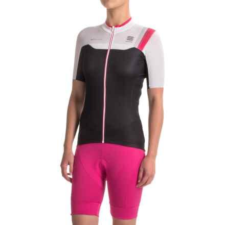 Sportful BodyFit Pro Cycling Jersey - Full Zip, Short Sleeve (For Women) in Black/White - Closeouts