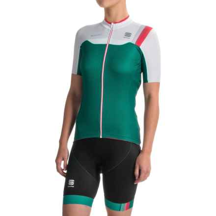 Sportful BodyFit Pro Cycling Jersey - Full Zip, Short Sleeve (For Women) in Teal/White - Closeouts