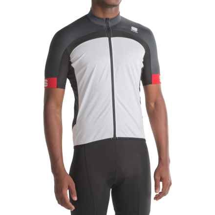 Sportful Pista Cycling Jersey - Full Zip, Short Sleeve (For Men) in White/Grey/Black - Closeouts