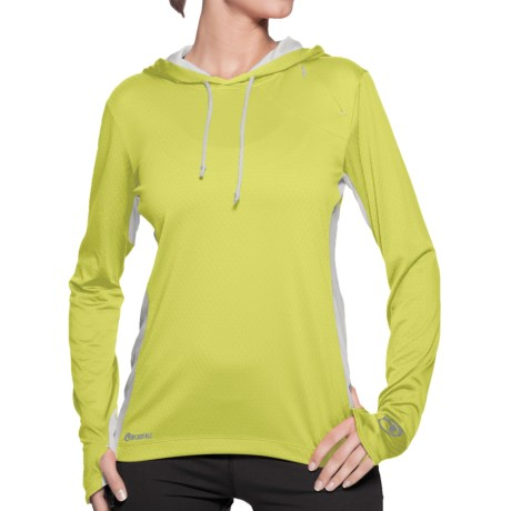 Sporthill Crescent Hoodie (For Women) in Lime/Silver