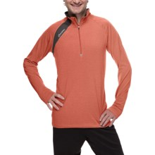 SportHill Crescent Pullover - Zip Neck, Long Sleeve (For Men) in Flame/Lava Rock - Closeouts