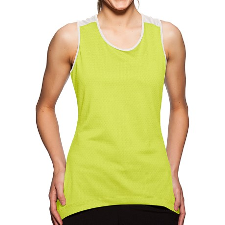Sporthill Crescent Tank Top (For Women) in Lime/Silver