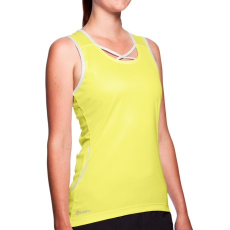 SportHill Floras Tank Top (For Women) in Lemon Tart/White
