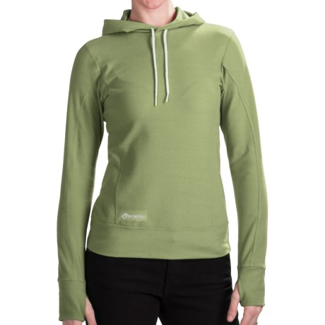 SportHill Infuzion Hoodie (For Women) in Sage