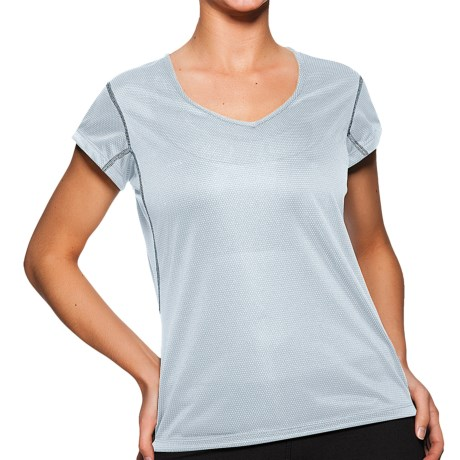 Sporthill Olympia T-Shirt - Short Sleeve, V-Neck (For Women) in Pale Blue