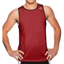 Sporthill Olympus Singlet Tank Top (For Men) in Chilipepper/Black - Closeouts