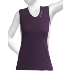 SportHill Pisgah Tank Top (For Women) in Eggplant/Lime Tart