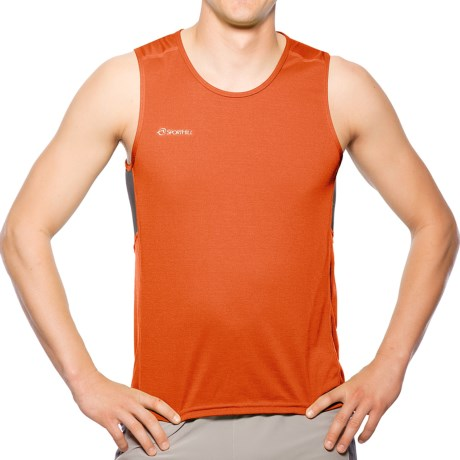 Sporthill Ridge Tank Top (For Men) in Habanero/Pewter