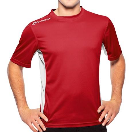 SportHill Shevlin II T-Shirt - Short Sleeve (For Men) in Chilipepper/Silver