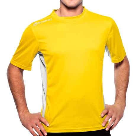 SportHill Shevlin II T-Shirt - Short Sleeve (For Men) in Maize/Silver