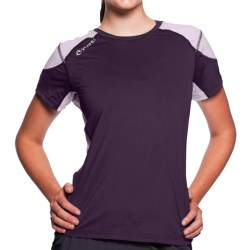 SportHill Timberline T-Shirt - Short Sleeve (For Women) in Eggplant/Light Lilac
