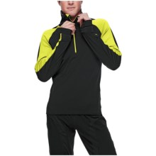 SportHill Tundra Pullover - Zip Neck (For Men) in Black/Citron - Closeouts