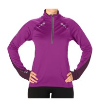 SportHill Ultimate Visibility Pullover - Zip Neck (For Women) in Fuchsia/Port - Closeouts