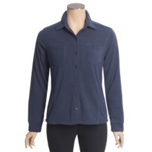 Sportif USA Naomi Shirt - Fleece, Long Sleeve (For Women) in Mood Indigo - 2nds
