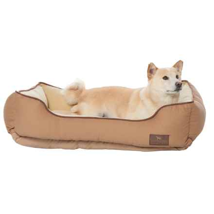 "Sporting Dog Solutions Rectangle Cuddler Dog Bed - 34x24"" in Brown - Closeouts"
