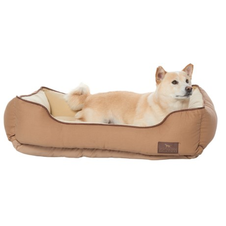 """Sporting Dog Solutions Rectangle Cuddler Dog Bed - 34x24"""" in Brown"""