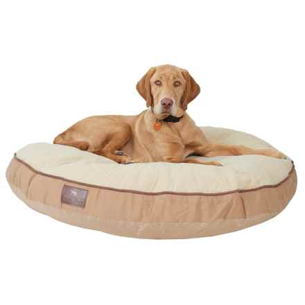 "Sporting Dog Solutions Round Gusset Dog Bed - 40"" in Brown - Closeouts"