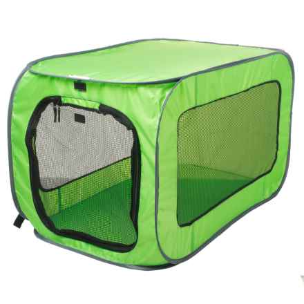SportPet Pop Open Soft-Sided Dog Kennel - Large in Green - Closeouts