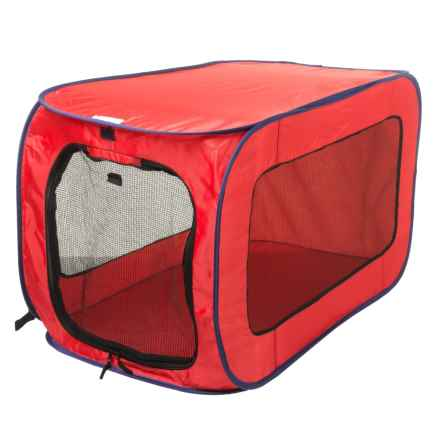 SportPet POP OPEN SOFT-SIDED DOG KENNEL - LARGE in Red - Closeouts