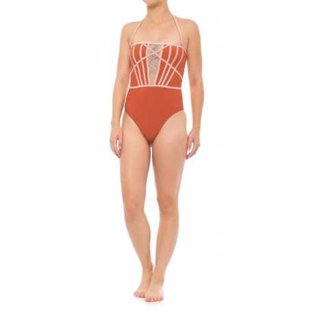 Sports Illustrated Matte Tricot One-Piece Swimsuit (For Women) in Spice