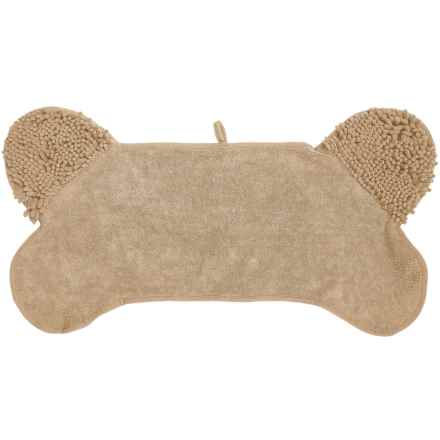Spot Clean Paws Dog Drying Towel in Cream - Closeouts