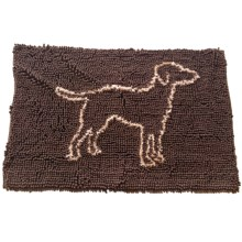"Spot Clean Paws Dog Mat - 31x20"" in Brown - Closeouts"
