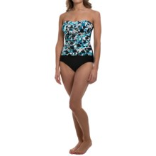 Spots Bandeau One-Piece Swimsuit (For Women) in Blue - 2nds
