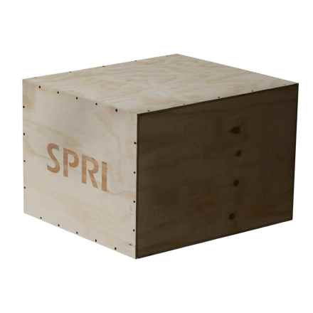 SPRI Cross-Training Small Plyo Box in Wood - Overstock