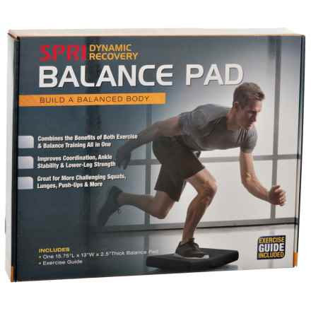SPRI Dynamic Recovery Balance Pad in Black - Closeouts