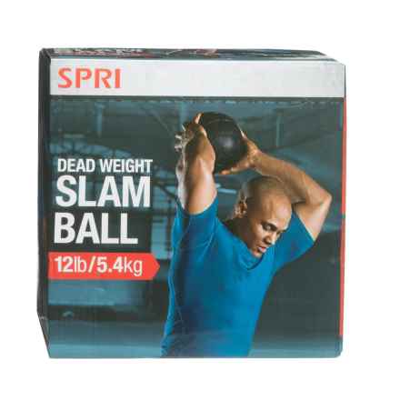 SPRI Pro Dead Weight Slam Ball - 12 lb. in Purple/Black - Closeouts
