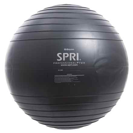 SPRI Professional Plus Stability Ball - 55cm in Black - Closeouts