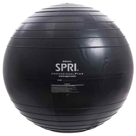 SPRI Professional Plus Xercise Ball - 65cm in Black - Closeouts