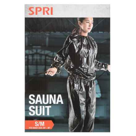 SPRI Total Workout Sauna Suit in Black - Closeouts