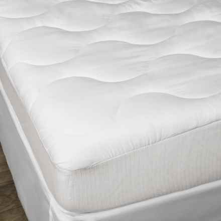 Spring Air Won't Go Flat Mattress Pad - King in White - Closeouts