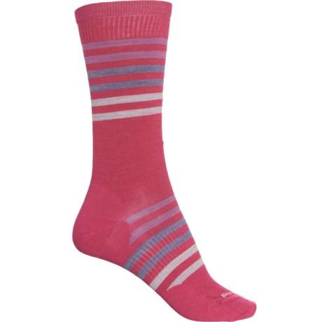Spruce Street Socks - Merino Wool, Crew (For Women) - POTION PINK (M ) -  SmartWool