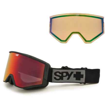 Spy Optics Ace Ski Goggles - Extra Happy Lens in Matte Black/Happy Red Spectra+Happy Lucid Green - Closeouts