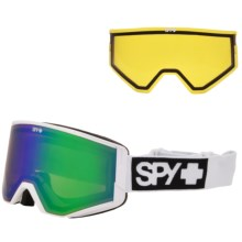 Spy Optics Ace Ski Goggles - Quick Draw Lens Change in Matte White/Bronze W/Green Spectra/Yellow - Closeouts