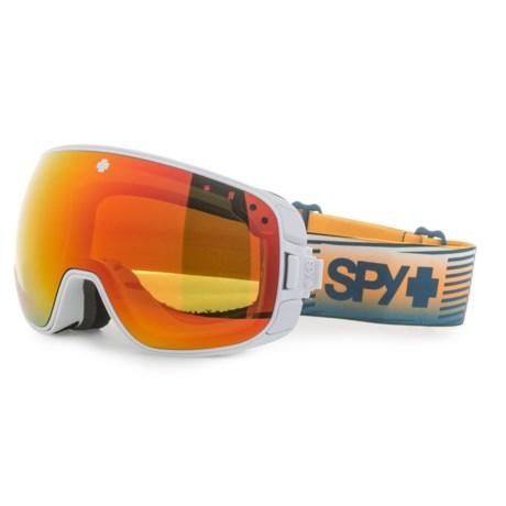Spy Optics Bravo Ski Goggles - Extra Happy Lens in Matte White/Happy Red Spectra+Happy Blue Spectra