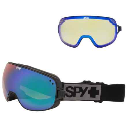 Spy Optics Bravo Ski Goggles - Extra Lens in Black/Bronze W/Green Spectra +Yellow Contact - Closeouts