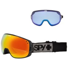 Spy Optics Bravo Ski Goggles - Extra Lens in Black/Bronze W/Red Spectra +Blue Contact - Closeouts