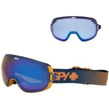 Spy Optics Bravo Ski Goggles in Blue Fade/Bronze W/Dark Blue Spectra +Blue Contact - Closeouts