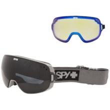 Spy Optics Bravo Ski Goggles in Elemental Gray/Dark Gray +Yellow Contact - Closeouts