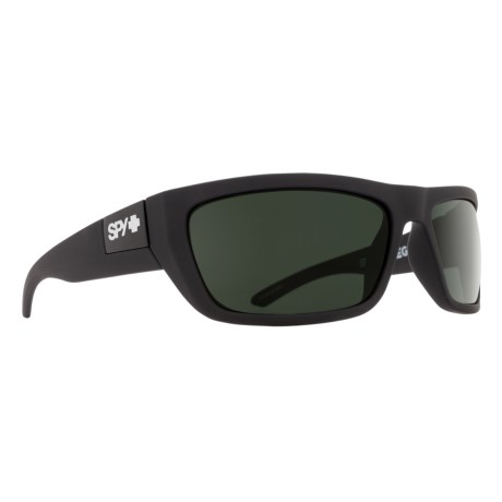 Spy Optics Dega Sunglasses in Matte Black/Happy Gray Green