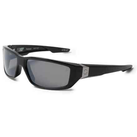 Spy Optics Dirty Mo Sunglasses - Polarized (For Men and Women) in Black/Happy Broze Polarized/Black Mirror - Closeouts