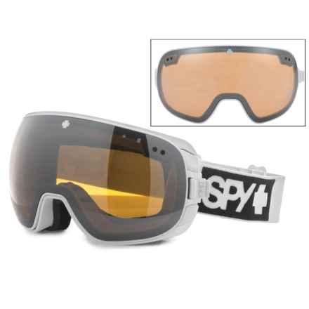 Spy Optics Doom Ski Goggles - Extra Lens (For Men) in White/Mirror/Persimmon - Closeouts