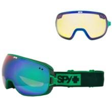 Spy Optics Doom Ski Goggles - Polarized in Elemental Green/Bronze W/Green Spectra/Yellow Cont - Closeouts