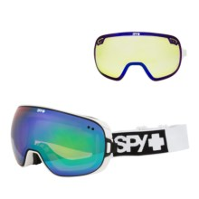 Spy Optics Doom Ski Goggles - Polarized in Matte White/Bronze W/Green Spectra/Yellow Contact - Closeouts