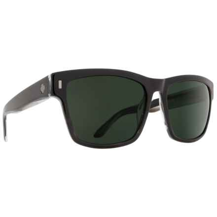 22583a5896 Spy Optics Haight Sunglasses (For Men) in Matte Black  Happy Gray Green