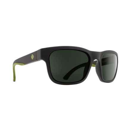 Spy Optics Hunt Sunglasses in Matte Black/Olive/Happy Gray Green - Closeouts