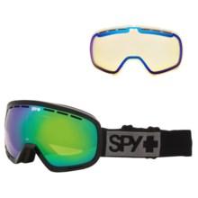 Spy Optics Marshall Ski Goggles in Black/Bronze W/Green Spectra +Yellow Contact - Closeouts